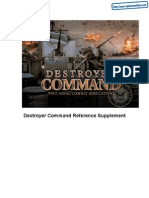 Destroyer Command - Reference Supplement - PC