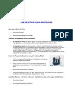 Line Reactor Sizing Procedure