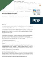 MODELO DE IMPUGNAÇÃO A PENHORA - Peças UJ
