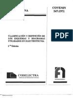 547-71 CLASIFICACION Y DEFINICION DE LOS ESQUEMAS Y DIAGRAMAS UTILIZADOS EN ELECTROTECNIA .pdf