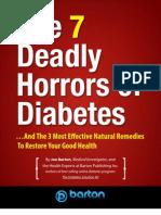 7 Deadly Horrors Diabetes