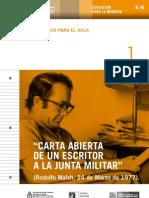 Carta Abierta de Un Escritor a La Junta Militar - Walsh