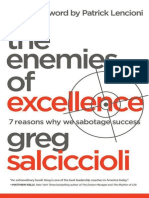 The Enemies of Excellence 7 Reasons Why We Sabotage Success