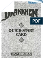 Drakkhen - Quick Reference Card - PC