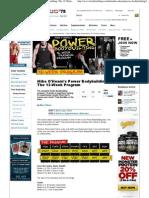 Bodybuilding Workout Pdf