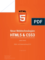 Neue Webtechnologien HTML5 & CSS3