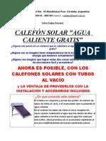 Calefon Solar Termo