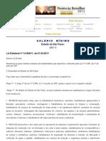 Salário Mínimo no Estado de São Paulo (SP), 2011, Lei nº 14.394_2011, de 01.04