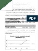 Studiu privind evoluţia bugetului local al judeţului Constanţa