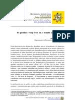 Noriega El Quechua Voz y Letra en El Mundo Andino