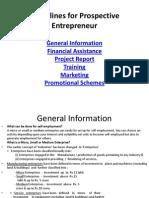 PMe Guidelines for Prospective Entrepreneur.