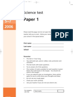 KS3 Science Tier 5-7 2006 Paper 1