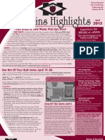 Hopkins Highlights-April 2013