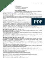EXERCÍCIOS - TGRJ I  -  DIREITOS DA PERSONALIDADE NOME E AUSÊNCIA - 2013