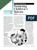 Nurturing Kids Talents