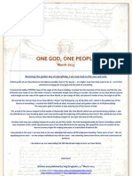 One God One People March 2013