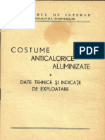 costumul anticaloric aluminizat