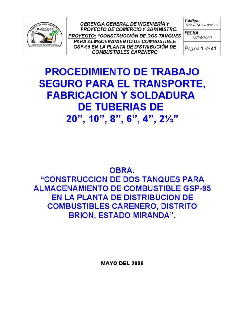 Pts 008 Fabricacion y Soldadura de Tuberias de Diferentes Diametros ...