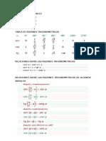 IGUALDADES NOTABLES y Relaciones Trigonometricas