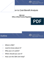 Introduction to Cost-Benefit Analysis (CBA)
