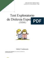 TEDE, dislexia específica (Autoguardado)
