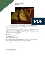 Panque Naranja Queso y Granola