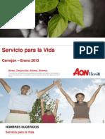 Propuesta Servicio Para La Vida. Enero 3 2013