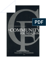 Community Foundation Primer
