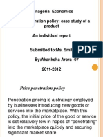 Price penetration policy