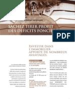 Fiche Deficit Foncier 2012