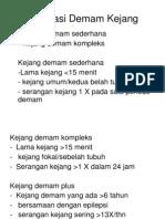Klasifikasi Demam Kejang