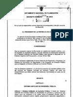 Decreto 2844 de 2010.Sistema Unico de Inversi+¦n P+¦blica