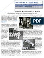 Antonio Women's Achievement April 2013