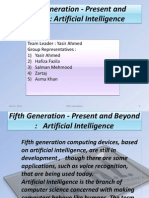 Fifth Generation - Present and Beyond:Artificial Intelligence