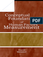 Conceptual Foundation of Human Factor Measurment