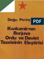 Kıvılcımlı'nın Burjuva Ordu ve Devlet Teorisinin Eleştirisi - Doğu Perinçek