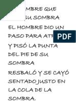 EL HOMBRE QUE PISÓ SU SOMBRA