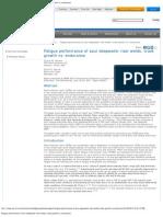 Fatigue Performance of Sour Deepwater Riser Welds_ Crack Growth vs. Enduranc