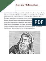 Top 10 Pre-Socratic Philosophers