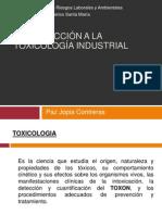 Clase 1 Introd a La Toxicologia Industrial