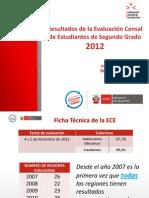 Presentación de los resultados ECE 2012 por la ministra Patricia salas (02/04/13)