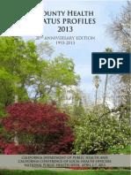 County Health Status Profiles 2013