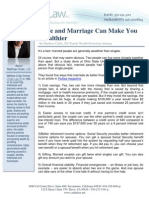 Love and Marriage Can Make You Wealthier
