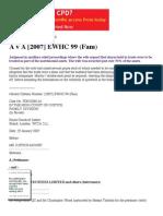 A v A [2007] EWHC 99 (Fam)