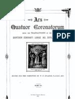 Ars Quatuor Coronatorum, Vol. 18 (1905)