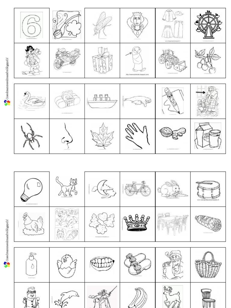 Domino della sillaba iniziale for Lepre immagini da stampare