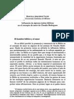 texto Influencia de algunos textos bíblicos en el concepto de amor de Claudio Rodríguez