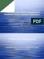 Diaton tonometer vs Goldmann Applanation Tonometer