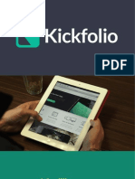 Kickfolio Pitch Deck