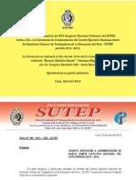 Nuevo CEN del SUTEP periodo 2013 2015